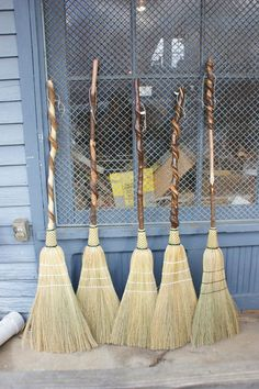 Handmade Fancy Sweepers to jump the broom!
