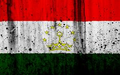 Download wallpapers Tajik flag, 4k, grunge, flag of Tajikistan, Asia, Tajikistan, national symbols, Tajikistan national flag