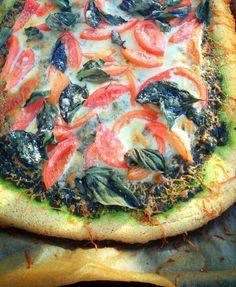 Grain Free Pesto Pizza by realsustenance #Pizza #Grain_Free #Gluten_Free