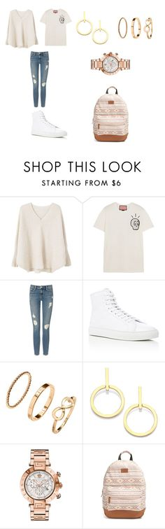 """Suggestions Welcomed"" by sierramist-2k ❤ liked on Polyvore featuring MANGO, Gucci, Frame Denim, Common Projects, H&M, Vita Fede, Versace and Rip Curl"