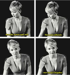 Jennifer Lawrence talking about her first audition.