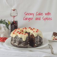 carob cake with ginger, spices and cream cheese gingerbread frosting Gingerbread Frosting, Cake Servings, Spicy, Pudding, Desserts, Cakes, Christmas, Recipes, Bliss