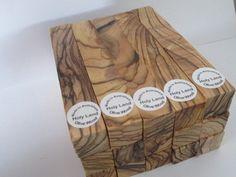 10 ~DARK GRAINS& EXTREMELY FIGURED ~ Bethlehem Olive Wood Pen Turning Blanks. #Jerusalem_products