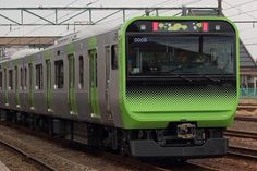 The new E235 series train for the Yamanote railway line in Japan gets it's first test run in public.