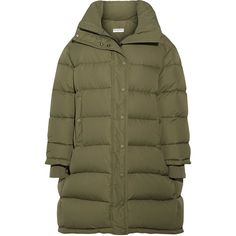 Olive green hooded coat