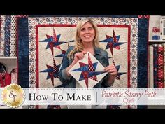 How to Make the Patriotic Starry Path Quilt Beginner Quilt Patterns, Star Quilt Patterns, Star Quilts, Easy Quilts, Quilting Tutorials, Quilting Projects, Quilting Designs, Quilt Blocks, 24 Blocks