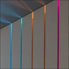 Adding to the contemporary look is this modern projection of Sub-Zero Showroom Color Evolution. Embedded in the wall, the continuous variation of color. Sub Zero, Contemporary, Modern, Showroom, Evolution, Retail, Curtains, Display, Wall
