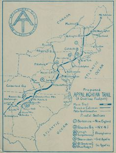 Many local hiking trails cross paths with the Appalachian Trail, but how much do you know about this iconic mile long path? For a deep dive into the history of the A., check out this great post by Places Journal appalachiantrailmap Local Hiking Trails, Thru Hiking, Camping And Hiking, Camping Gear, Appalachian Trail Map, Trail Maps, Backpacking Tips, Hiking Tips, Ultralight Backpacking