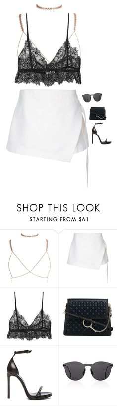 """""""Untitled #2649"""" by voidpietro ❤ liked on Polyvore featuring Dion Lee, Chloé, Yves Saint Laurent and Illesteva"""