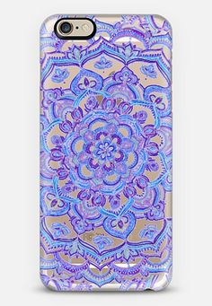 Radiant Cobalt & Royal Purple Mandala on Transparent iPhone 6 case by Micklyn Le Feuvre - Use code 6SP8GR to get $10 off your first order. #casetify #freeshipping