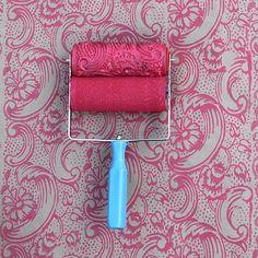 Patterned Paint Roller in Night Dahlia from NotWallpaper on OpenSky