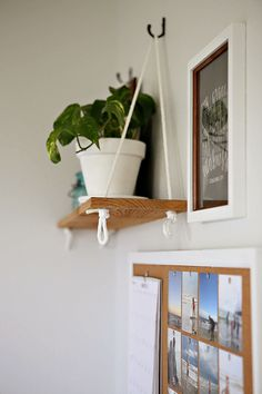 DIY hanging shelf project