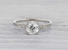 1.23 Carat Art Deco Engagement Ring