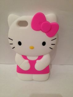iphone 4/5 pink and white hello kitty rubber case