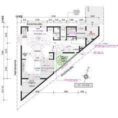 Triangle House, House Plans, Floor Plans, Diagram, How To Plan, House Floor Plans, Floor Plan Drawing, Home Plans