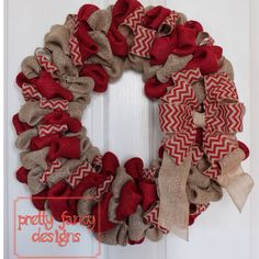 Hey, I found this really awesome Etsy listing at http://www.etsy.com/listing/163235682/fall-burlap-wreath-in-red-burlap-wreath