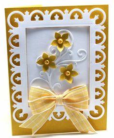 Keywords: Golden beauties   Paper: SU   Accessories: Spellbinders, MFT dies, punch, ribbon, dimensionals