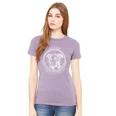 64ffe5a53 Pit Bull TShirt Lover Not A Fighter Ladies Fitted by CharityPaws Animal  Rescue Shelters