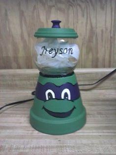 Ninja Turtle Candy Jar by Sissyskrafts on Etsy