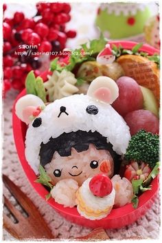 Kawaii Rilakkuma Bear Girl Bento Lunch|キャラ弁.      Drea, it's you!