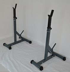 Separate Squat Racks HD Adjustable Power Weight Bench Rack 500 Lb Cap ** Click image for more details.