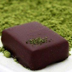Ginger Green Tea Vegan Organic Dark Chocolate Truffles, 6-piece box, 2.2 oz