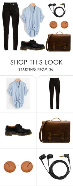 """Untitled #126"" by worldofalicin on Polyvore featuring Yves Saint Laurent, Dr. Martens and Sennheiser"