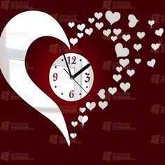 1 x DIY Mirror Wall Clock Sticker(Not include battery). The clock size is depends on your preference to decorate your wall. the clock on the wall. Wall Clock Sticker, Mirror Wall Clock, Wall Clock Design, Mirror Wall Stickers, Diy Mirror, Wall Clocks, Kids Clocks, Mirror Art, Acrylic Mirror