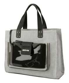 Black & Gray Contain Yourself Tote by Kenneth Cole Reaction #zulily #zulilyfinds