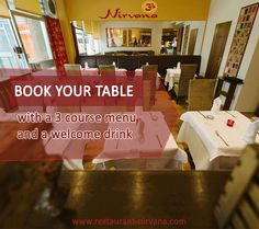 Book your #table with a 3 #course #menu and a welcome #drink @ http://restaurant-nirvana.com/home_dinig.html