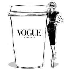 Add an extra shot of Anna in your VOGUE ESPRESSO this morning! It's the fashionable thing to do. -- Megan Hess