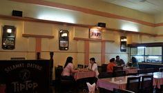 Table at the Tip Top restaurant: The colonial-style restaurant serves popular dishes such as ice cream and stir fry. (Photo by Edna Tarigan)