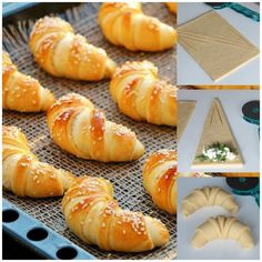 Peynirli Ay Poğaça - Pembe CupCake Croissants, Turkish Recipes, Ethnic Recipes, Bread And Pastries, Arabic Food, Food Items, Hot Dog Buns, Brunch, Food And Drink