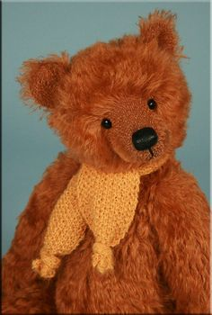 Teddy bear created by artist Paula Carter