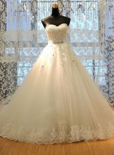 Elegant and Lovely 2015 Wedding Dress, Princess Ball Gown Wedding Dress