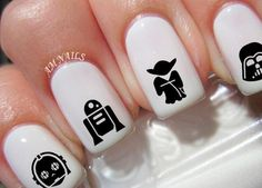 78 Star Wars Nail Decals - http://www.beautycosmetic.org/78-star-wars-nail-decals.html