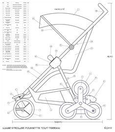 Moonbuggy :All terrain Stroller on Behance Diy Crafts Hacks, Technical Drawing, Art Sketchbook, Art For Kids, Sketches, Drawings, Engineering, Gadgets, Behance