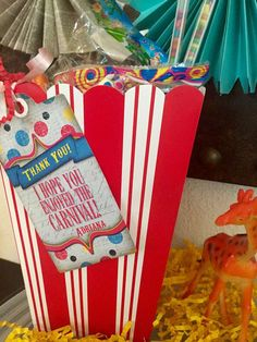 Fun favors at a circus birthday party! See more party ideas at CatchMyParty.com!