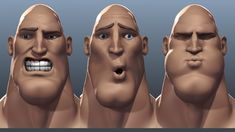 Tough Guy Facial Rig Test With Wireframe Overlay