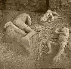 Victims of the earthquake and eruption, Pompéi