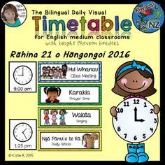 Maori Timetable Bilingual (Te reo Maori / English) Editable