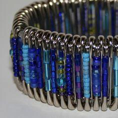 Peacock - Safety Pin Bracelet