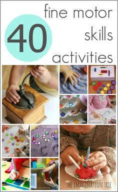 Awesome list of 40 fine motor activities for children! #finemotor #pediOT