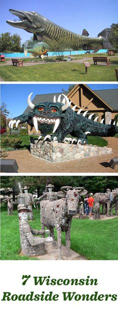 Heading to Wisconsin on a road trip? Grab a selfie—and maybe a tour—at these fun roadside attractions: http://www.midwestliving.com/blog/travel/7-wisconsin-roadside-wonders/