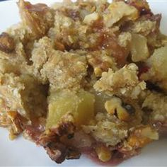Apple, Cranberry, and Pear Crisp Allrecipes.com Delicious. I used all ...