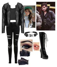 """""""Daughter of Captain Hook (OUAT)"""" by caylin-garcia-is-a-queen ❤ liked on Polyvore featuring Once Upon a Time, Miss Selfridge, Zizzi, Bling Jewelry, Ardell, Charlotte Tilbury, Les Cinq, women's clothing, women and female"""