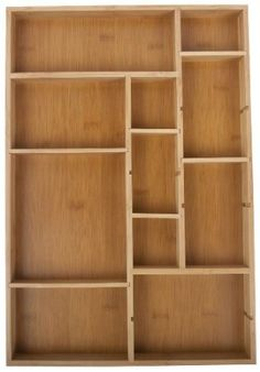 Core Bamboo Adjustable Drawer Organizer (Large) - $20.24 | As shown here: http://www.nobiggie.net/craft-supply-organization-ideas-with-a-printer-tray/