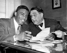 Branch Rickey, manager of the Brooklyn Dodgers who signed Jackie Robinson, integrating major league baseball.  Branch Rickey Legacy Discussed in New York Times | Connect2 OWU