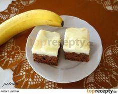 Pudinkové řezy s banánem bez lepku, mléka a vajec