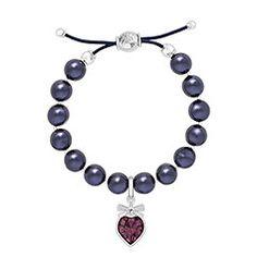 Purple Pearl Charm Conjunto